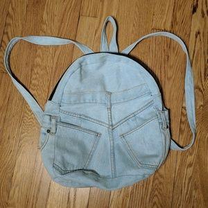 Vintage retro denimn backpack